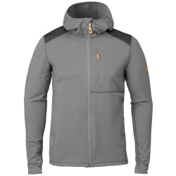 Fjällräven Mens Keb Fleece Hoodie, M, GREY-DARK GREY/020-030