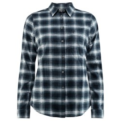 Fjällräven Womens Övik L/S Flannel Shirt, M, DARK NAVY/555