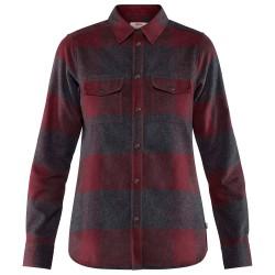 Fjällräven Womens Canada Shirt Ls, M, DARK GARNET/356