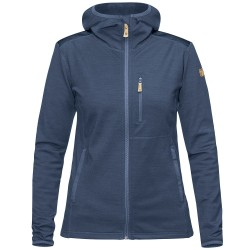 Fjällräven Womens Keb Fleece Hoodie, L, STORM-NIGHT SKY/638-575