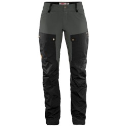 Fjällräven Womens Keb Trousers Short, 34, BLACK-STONE GREY/550-018