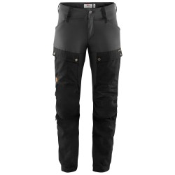 Fjällräven Womens Keb Trousers Short, 44, BLACK-STONE GREY/550-018