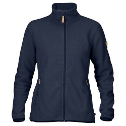 Fjällräven Womens Stina Fleece, XS, DARK NAVY/555