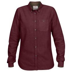 Fjällräven Ws Övik Foxford Shirt L/S, S, DARK GARNET/356