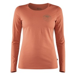 Fjällräven Ws Forever Nature Badge L/S T, S, TERRACOTTA PINK/306