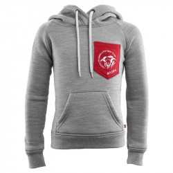 Fleecewool Hoodie Junior Grey Melange - Pepper