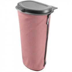 Flextrash affaldsbeholder 9L Lys rød inkl. sædeclip