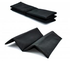 Foldbar siddeplade