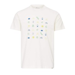 Frilufts Mens Glarus Printed T-shirt, XXL, BRIGHT WHITE