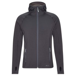 Frilufts Mens Ouse Hooded Fleece Jacket, L, EBONY