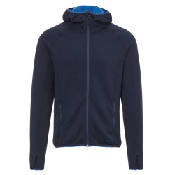 Frilufts Mens Ouse Hooded Fleece Jacket, M, DARK SAPPHIRE