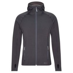 Frilufts Mens Ouse Hooded Fleece Jacket, M, EBONY