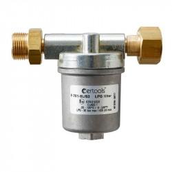 Gasfilter med udskifteligt filter