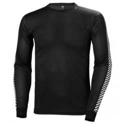 Helly Hansen Mens Lifa Stripe Crew, Black