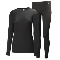 Helly Hansen Womens HH Comfort Dry 2-Pack, Black
