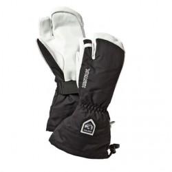 Hestra Army Leather Heli Ski 3-Finger, Black