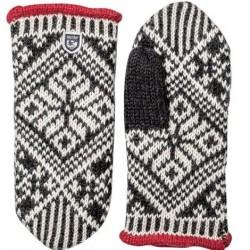 Hestra Nordic Wool Mitt Unisex, Black / White