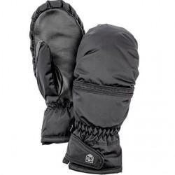 Hestra Primaloft Leather Mitt Dame, Black