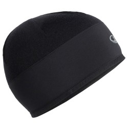 Icebreaker Tech Trainer Hybrid Beanie, ONE SIZE, BLACK