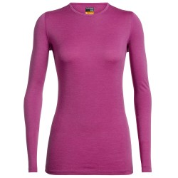 Icebreaker Womens 200 Oasis L/S Crewe, L, AMORE