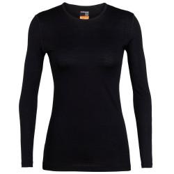 Icebreaker Womens 200 Oasis L/S Crewe, XL, BLACK