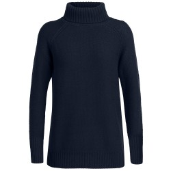 Icebreaker Ws Waypoint Roll Neck Sweater, M, MIDNIGHT NAVY