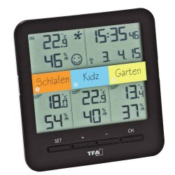 Indeklima Display Termo-Hygro sensorer til Weather Hub/Wifi vejrstation