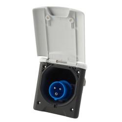 Indgangsstikdåse CEE med magnetlås Hvid