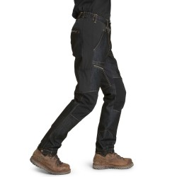 Is not enough Mens Albion Denim Pants, XXL, JET BLACK