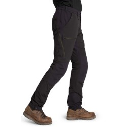 Is not enough Mens Creon Softshell Pants, XXXL, JET BLACK