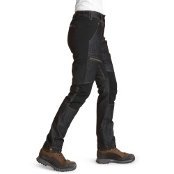 Is not enough Womens Aethra Denim Pants, XS, JET BLACK