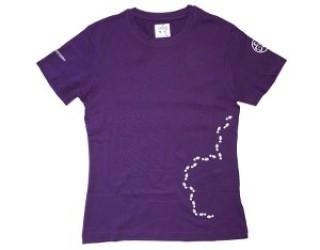 Jeg går nye veje - Lilla T-shirt Pigespejderne