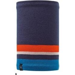 Knitted & Polar Fleece Neckwarmer Ovel Blue