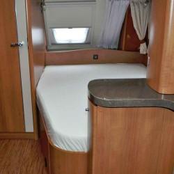 Lagen til franske senge. Grey Bredde 140 cm - Venstre