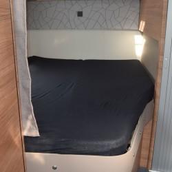 Lagen til franske senge Sort Bredde 160 cm - Højre