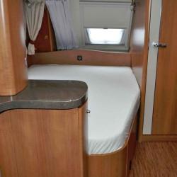Lagen til franske senge. Sort Bredde 160 cm - Højre