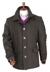 Laksen Zug Loden Coat BRUN XXL