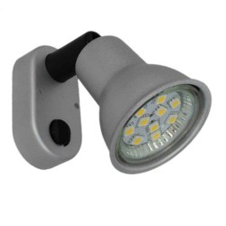 Mini væglampe 12V Matt Silver