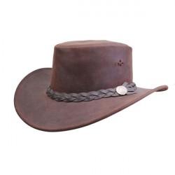 MJM Aussie Bush Læder Hat Brown AussieBush Læder Hat S