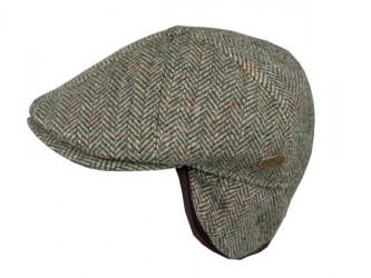 Mjm Rebel El 100% Virgin Wool Hat Green Herringbone S