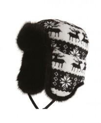 MJM Reindeer Hat med Øreklapper Black M