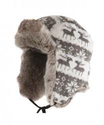 MJM Reindeer Hat med Øreklapper Grey XL