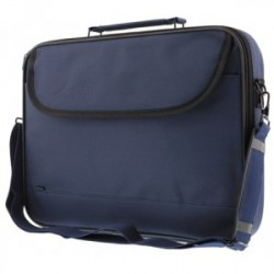 Notebook Bag Polyester, 14, 2 pockets, Blue - Taske