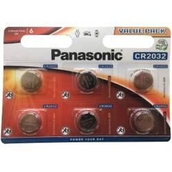 Panasonic CR2032 3V Lithium Knapbatteri - 6 stk.
