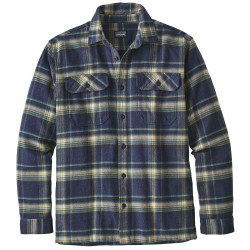 Patagonia Mens Fjord Flannel Shirt, L, DEFENDER: NEO NAVY