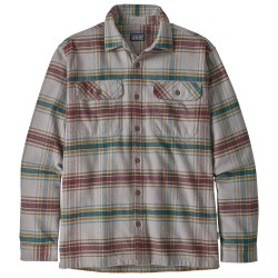 Patagonia Mens Fjord Flannel Shirt, L, INDEPENDENCE: FORGE GREY