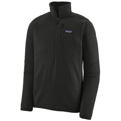 Patagonia Mens R1 Pull Over, S, BLACK