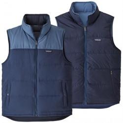 Patagonia Mens Reversible Bivy Down Vest, Stone Blue