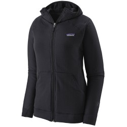 Patagonia Womens R1 Full-Zip Hoody, M, BLACK