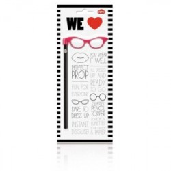 Pencil Topper Pink Glasses